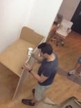 fabricando el mueble de recepción 19
