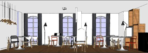 decoración e interiorismo para el aula de teoria 60