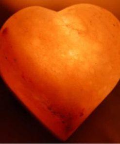 Lámpara sal corazón