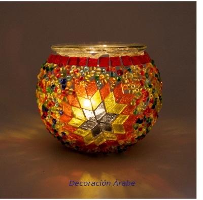 porta velas de cristal de Turquía