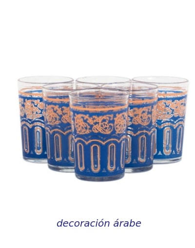 vasos pintado para el te arabes
