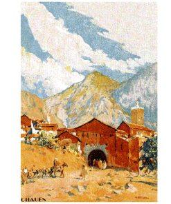 poster de pintura de Marruecos