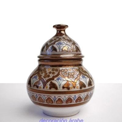 bombonera cerámica árabe nazarí