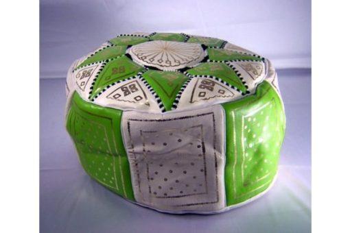 Puff marroquí verde pistacho