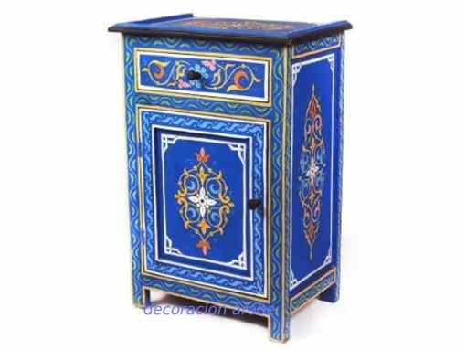 mesita árabe de noche azul
