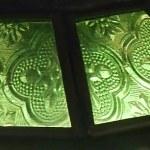 cristal tallado verde