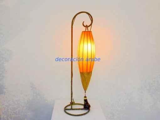 lámpara árabe mesa piel