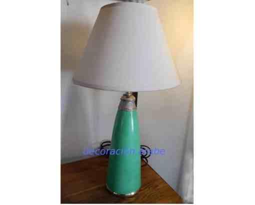 lámpara árabe de ,mesa color pistacho
