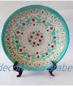 plato árabe andalusí verde