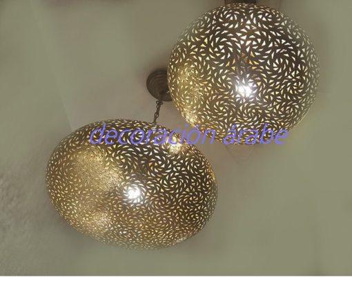 lámpara cobre marroqui