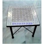 mesa marroquí mosaico beige