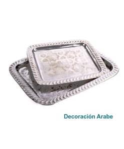 bandeja marroquí plateada