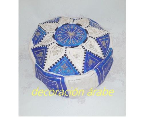 puff marroquí cuero