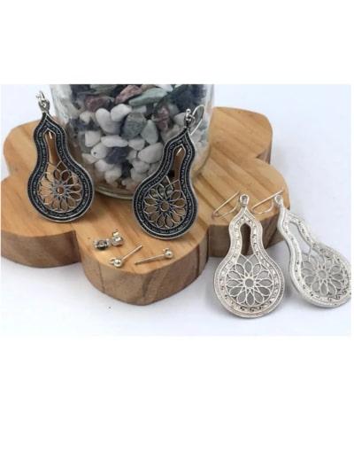 pendientes árabes plata egipcios