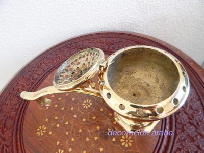 Incensario pebetero bronce