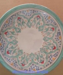 plato cerámica arabe andalusi verde