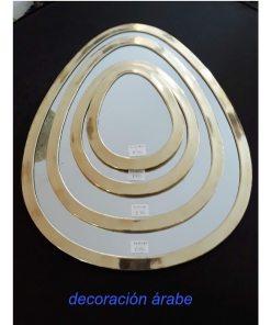 espejo árabe dorado latón