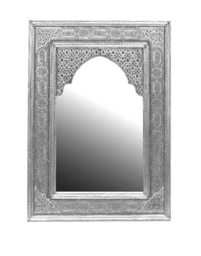 espejo marroquí plateado