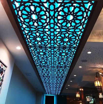 plafond estilo árabe dibujo Alhambra