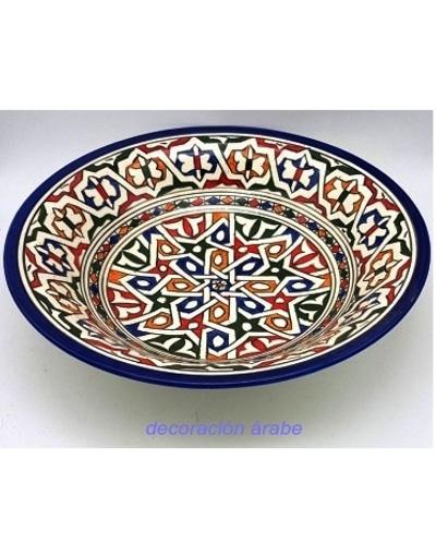 plato marroqui cerámica