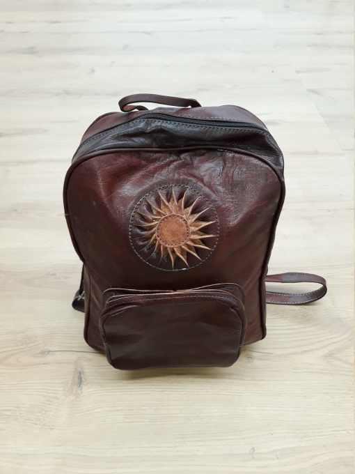 mochila cuero artesanal