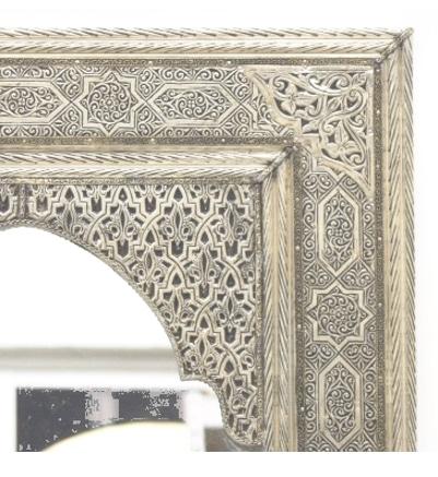 espejo árabe cromado plateado