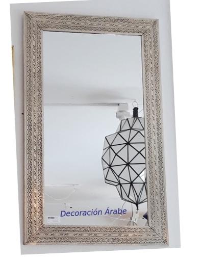 espejo arabe plateado