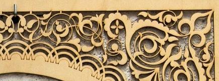 celosía de madera decorativa