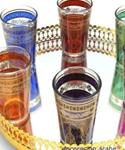 vasitos marroquíes pintados para el te