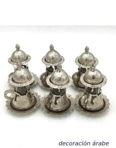 juego de vasos turquía para té
