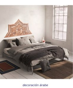 cebecero de cama celosía de madera