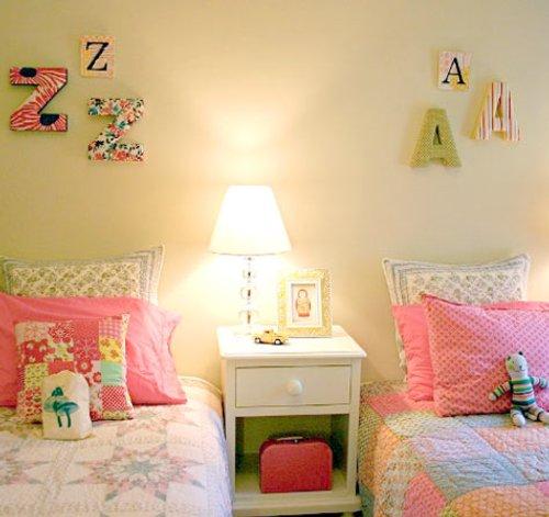 Decorar con letras una habitación de niños