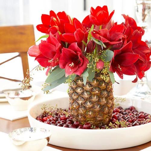 tres ideas para hacer un centro de mesa natural en navidad
