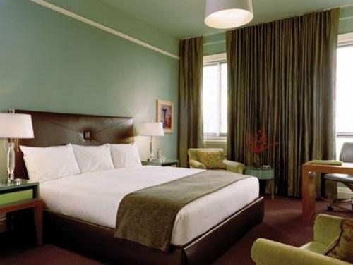 dormitorio color verde