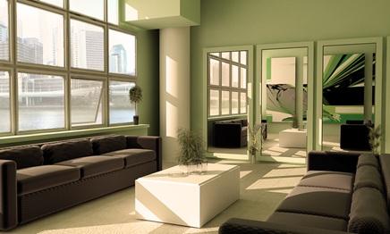 Sala Relajante Color Verde