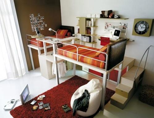cama loft juvenil dormitorio