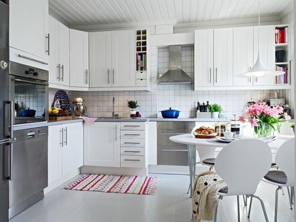 10 Cocinas Color Blanco Estilo Escandinavo