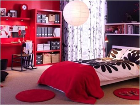 dormitorio-juvenil-chica-rojo-negro