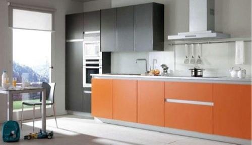 moderna cocina lineal