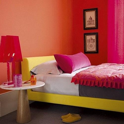 fuchsia-orange-room