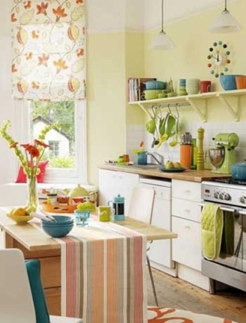 Ideas para decorar las paredes de tu cocina - Decoracion cortinas cocina ...