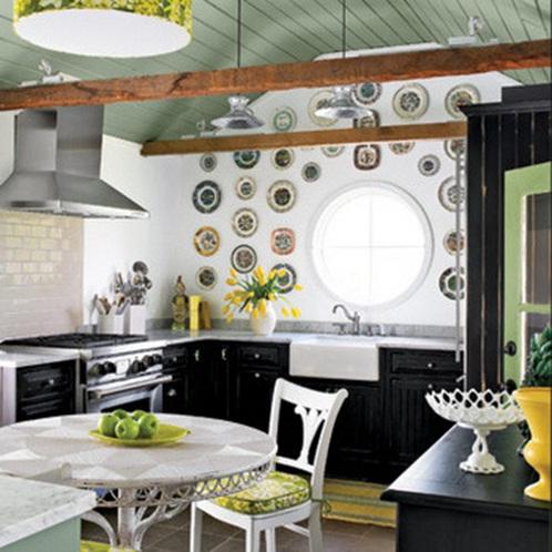 Ideas para decorar las paredes de tu cocina - Platos decorativos pared ...