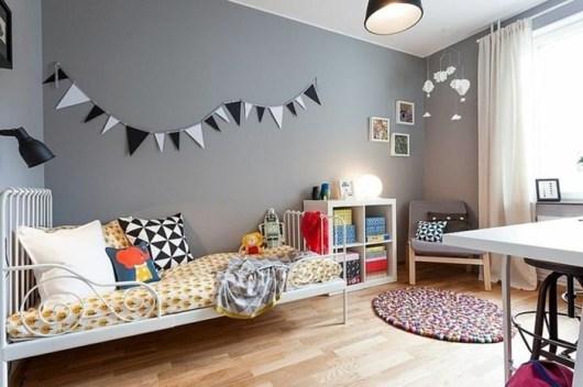 habitacion infantil gris