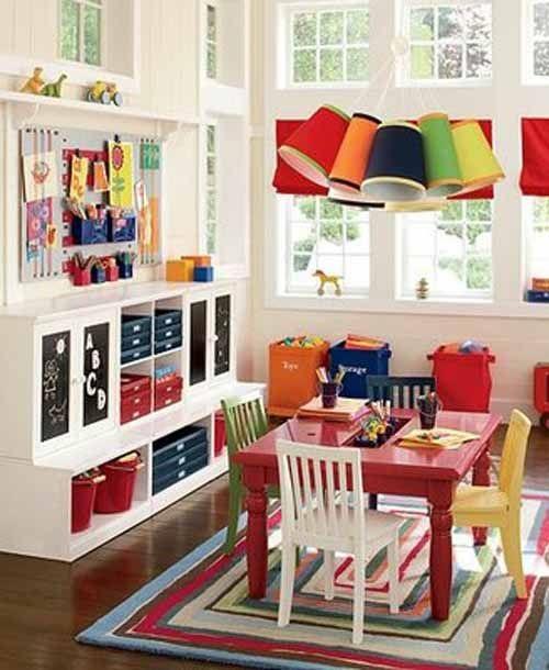 Dining Room Play: 15 Hermosos Diseños De Cuartos De Juegos Para Niños