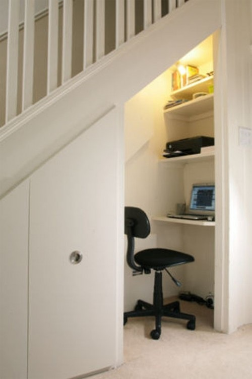 office idea under the stairs