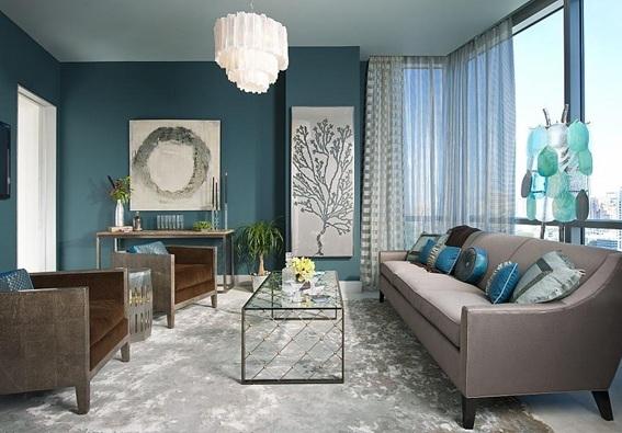 14 Salas Decoradas Color Turquesa