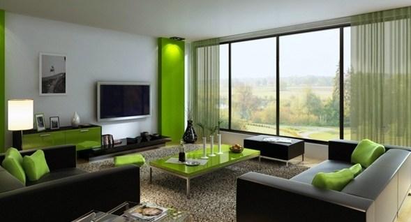 foto cortina sala moderna