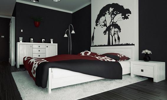 14 fotos de dormitorios con paredes color negro for Cuartos pintados de gris