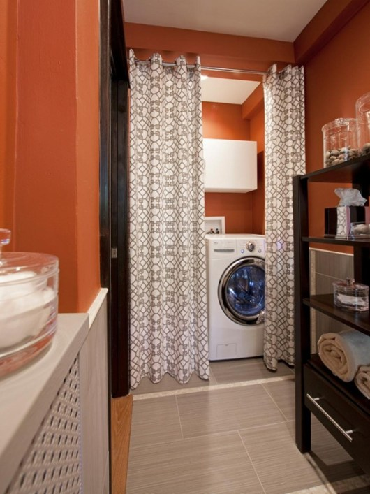 photo of bathroom with washing machine