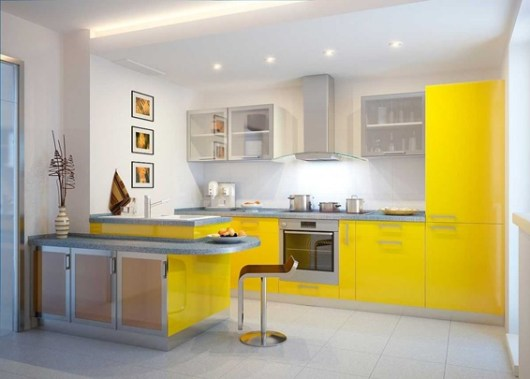 foto de cocina color amarillo